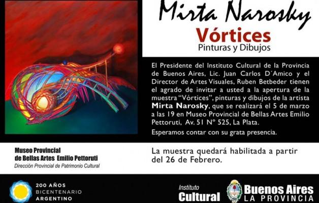 """Mirta Narosky y su muestra """"Vórtices"""" en el Museo Provincial de Bellas Artes """"Emilio Pettoruti"""""""