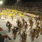 Grupo musical en el Sambódromo