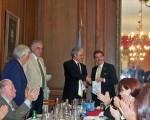 En la reunión del Rotary Club de Palermo, Antoine Thibaud presentó vinos de la bodega Ruca Malen