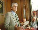 En la reunión del Rotary Club de Palermo, el brigadier Eugenio Miari se refirió al conflicto de 1982 en las Islas Malvinas