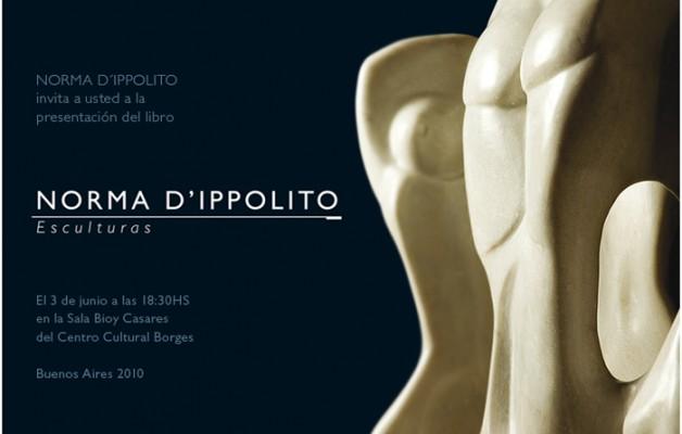 """En el Centro Cultural Borges se presentará el libro: """"Norma D'Ippolito esculturas"""""""