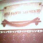 Placa de la Casa de Sarmiento