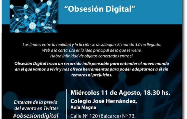 Obsesión Digital, es el libro que presentará Daniel Ivoskus