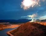 Se inauguró el dique Las Palmeras en San Francisco del Monte de Oro, San Luis.