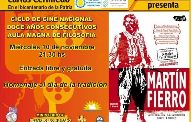 La película Martín Fierro en el Día de la Tradición