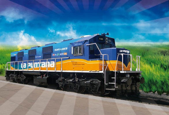 La Puntana es la locomotora que reactivará el transporte de carga en San Luis