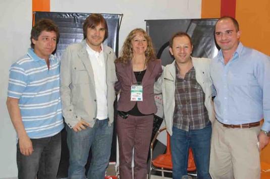 Licenciada María Celia Sánchez, integrantes de Faroni Producciones y Hernán Cancio , Jefe del subprograma Promoción e Inversión Turística
