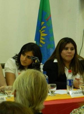 Licenciada Cecilia Guerrini y doctora Andrea Borrajo
