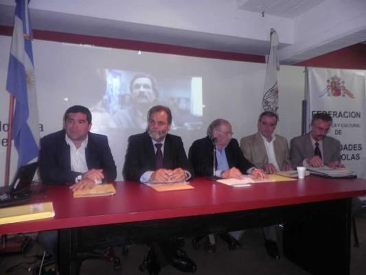 Lic. Claudio Romero, doctor Eugenio Semino, doctor José Luis Vidaller Nieto, Pedro Bello y doctor Daniel Castro.