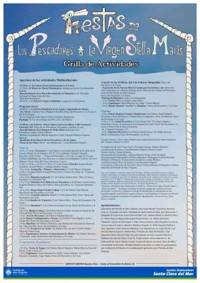 Fiestas de la Virgen de Stella Maris y de los Pescadores Afiche 01