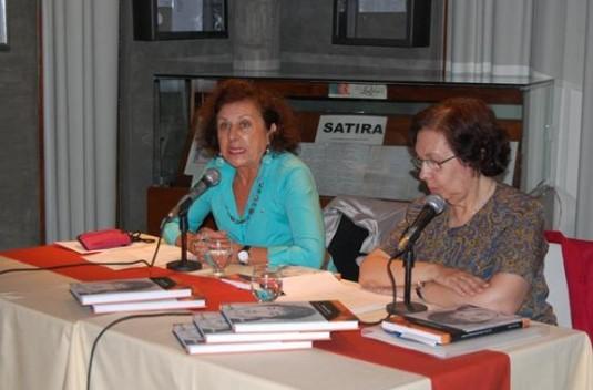 Adriana Ortiz Suárez, Jefa del Programa San Luis Libro y  .la doctora en Historia de la Universidad del Salvador Teresa Fernández Bengoechea