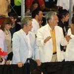 Senador Nacional, Adolfo Rodríguez Saá,gobernador de la Provincia de San Luis, Claudio Poggi y doctor Alberto Rodríguez Saá