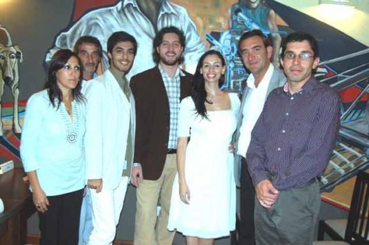 Jefe del Programa Cine y Música Fernando Ofría y actores