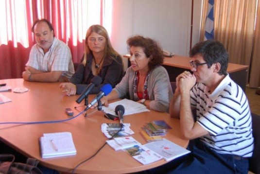 Jefa del Programa San Luis Libro, Adriana Ortíz Suárez , Cecilia Luberriaga, Ministro de Turismo y las Culturas