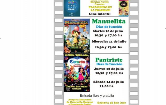 Manuelita en el Ciclo de cine infantil en La Biblioteca Franklin 2012