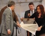 Cristina Kirchner inauguró una planta de produccion de cerdos en San Luis