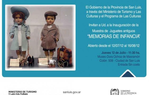 """Muestra de Juguetes Antiguos """"MEMORIAS DE INFANCIA"""""""