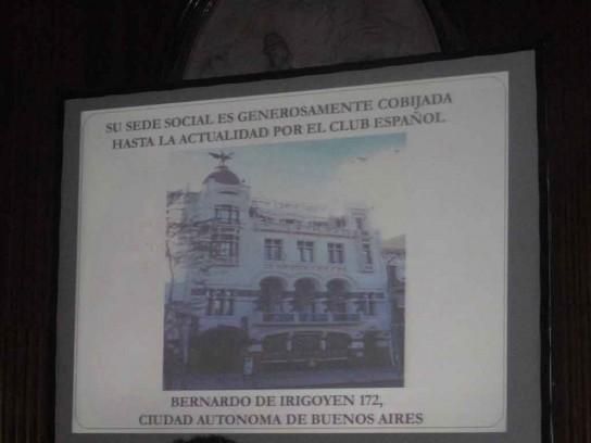 Imagen en pantalla Club Español