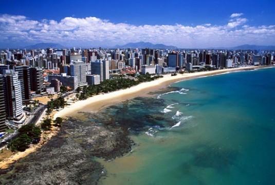 Vista aérea da Praia de Iracema
