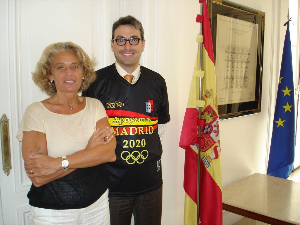 Alejandra Guirado Lago (Directora NH-Hoteles) - Álvaro Borrega de Sande (Consejero Embajada de España)