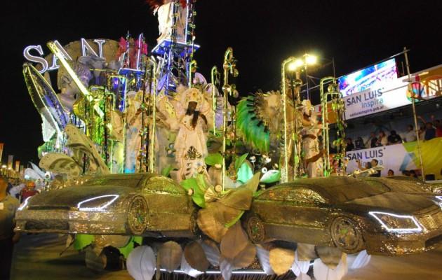 San Luis y Brasil vivieron dos noches de Carnaval en Potrero de los Funes