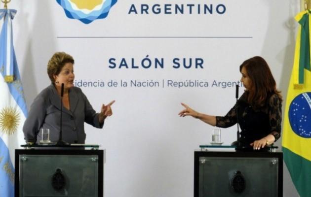 Cristina Kirchner recibió a Dilma Roussef en la Casa Rosada