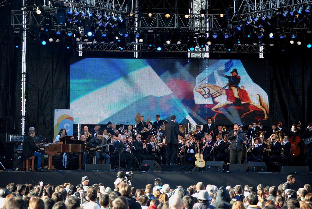 Banda Sinfonica Nacional de Ciegos Pascual Grisolia en homenaje al Dìa de la Bandera