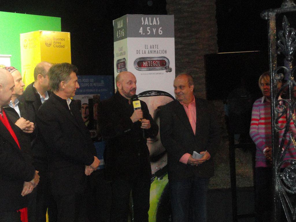 Mauricio Macri, Juan José Campanella y Hernán Lombardi