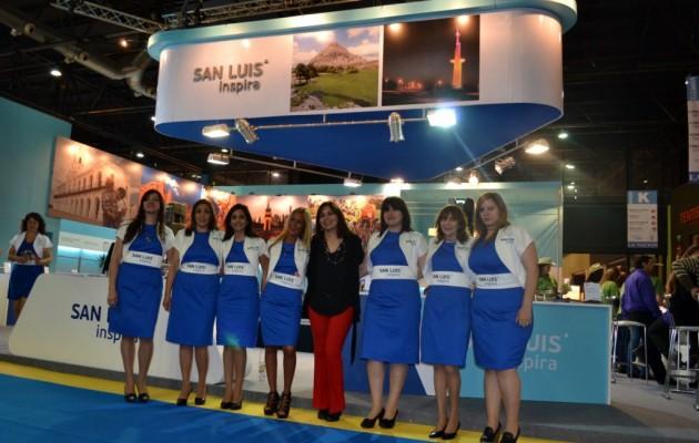 San Luis en el stand de la Feria Internacional de Turismo