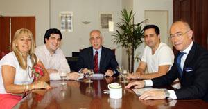 El Centro de Descendientes de Españoles Unidos se reunió  con don Aurelio Miras Portugal