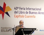 Quino estuvo presente en la inauguración de la Feria Internacional del Libro en Buenos Aires