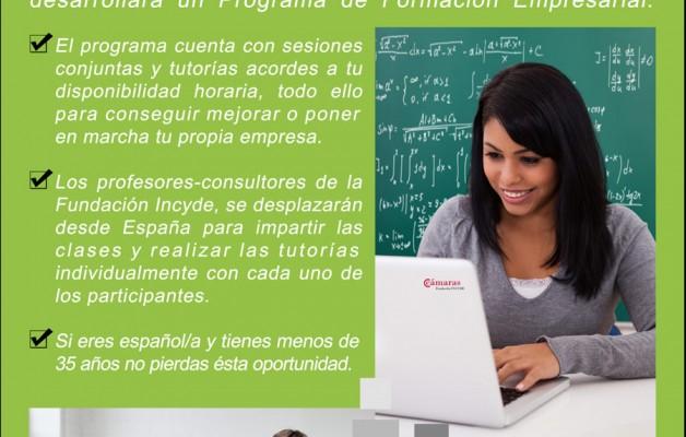 La Fundación INCYDE desarrolla el Programa de formación empresarial para jóvenes españoles