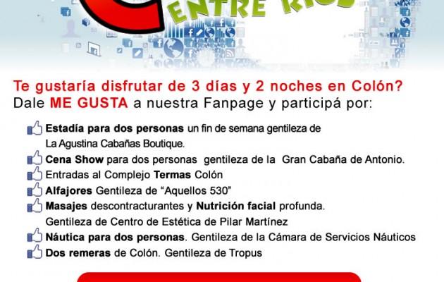 La Secretaría de Turismo de Colón sortea fines de semana en Facebook