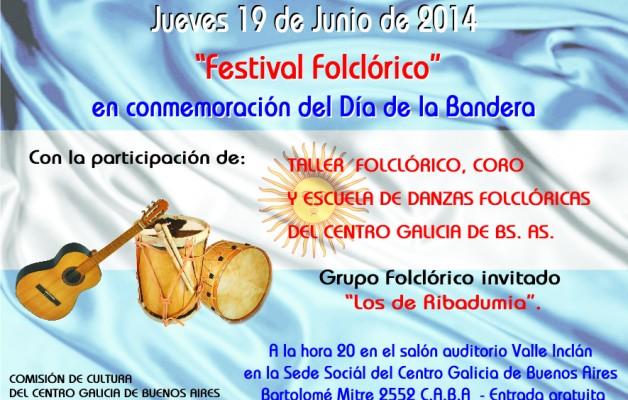 """El Centro Galicia de Buenos Aires celebrará el """"Día de la Bandera"""" con un festival folclórico"""