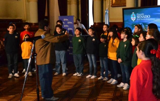 El Coro Provincial de Niños de La Rioja actuó en el Honorable Senado de la Nación
