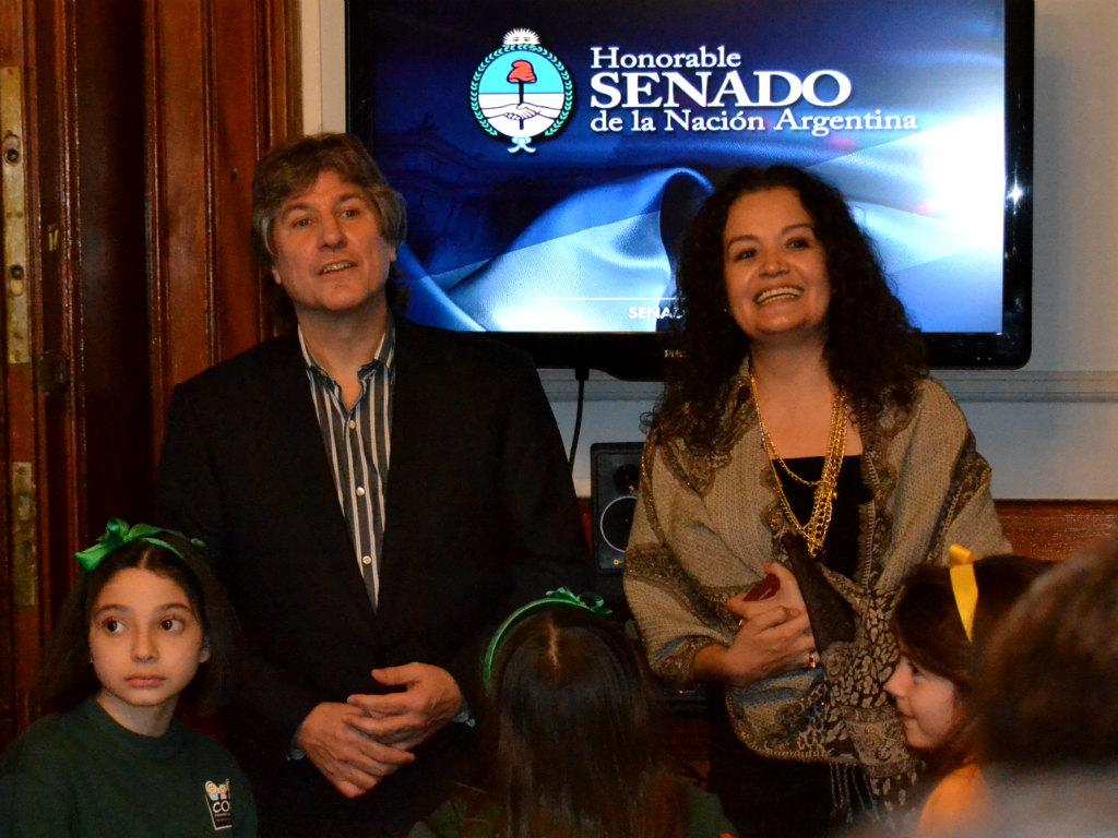 Vicepresidente de la Nación, Amado Boudou y Senadora Nacional Teresita Luna