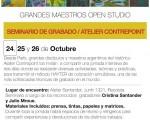 El seminario de grabado «Color Simultáneo» se inicia en el atelier de Cristina Santander