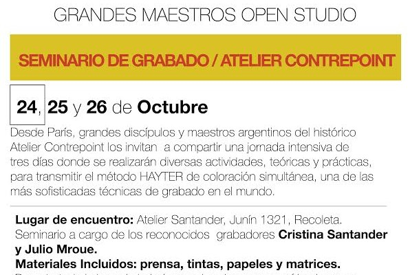 """El seminario de grabado """"Color Simultáneo"""" se inicia en el atelier de Cristina Santander"""