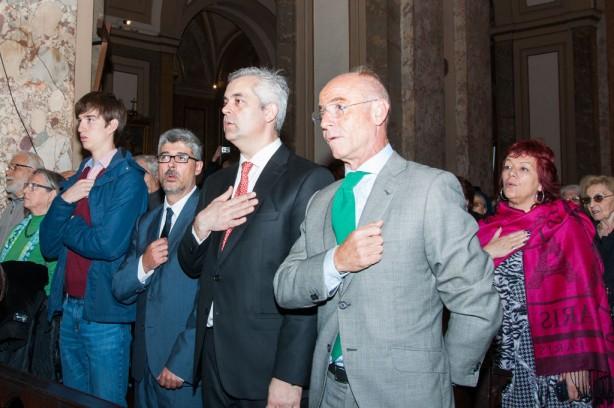 Delegado de la Xunta de Galicia en Bs. As., Alejandro López Dobarro y Consejero  de Empleo y Seguridad Social de la Embajada de España, Santiago Camba Bouzas