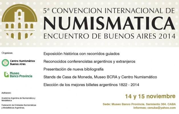 La 5ta Edición Internacional de Numismática se realizará en el Museo del Banco Provincia