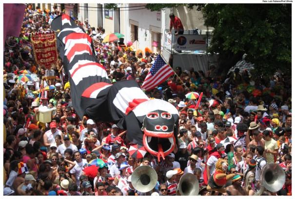 Carnaval de Olinda 2012. Crédito para Prefeitura de Olinda