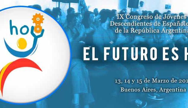 El IX Congreso de Jóvenes Descendientes de Españoles se desarrollará en Buenos Aires