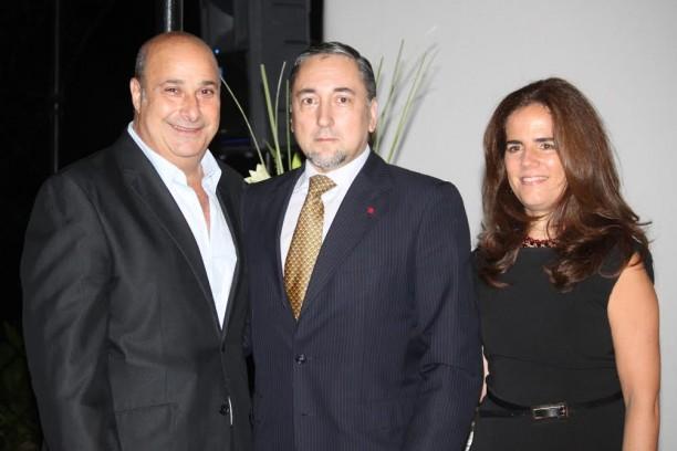 Dr. Carlos Castellano, Dr. Oscar Andrés De Masi y Arq. Marcela Fugardo