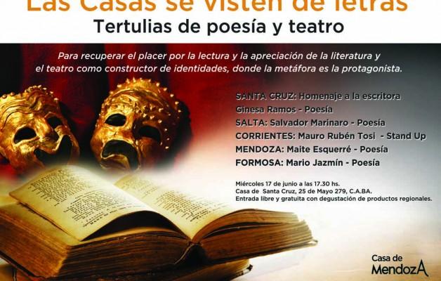 """Las Casas de las provincias participan del ciclo """"Tertulias de poesía y teatro"""""""