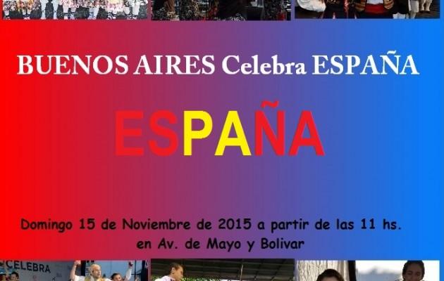 Buenos Aires Celebra España, desfilará por la tradicional Avenida de Mayo