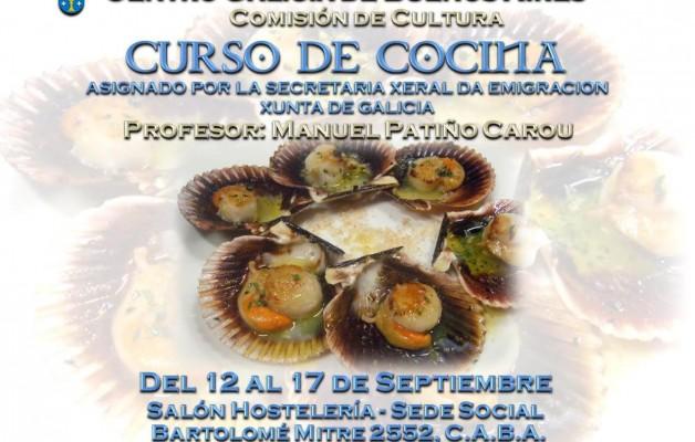 El curso de Cocina Gallega será dictado por Manuel Patiño Carou