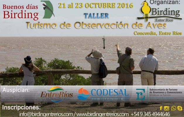 Birding Entre Ríos organiza el taller de observación de aves