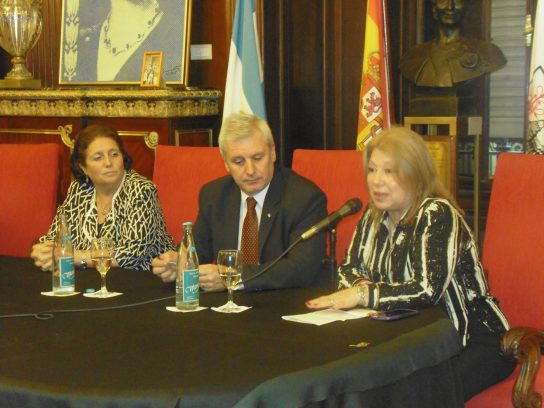 Dora Pegito, diputado Emilio Raposso Varela y Lic. María Amelia Alonso
