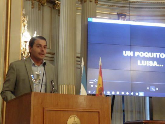 Cristian Soares, Secretario General del Centro Galicia de Buenos Aires