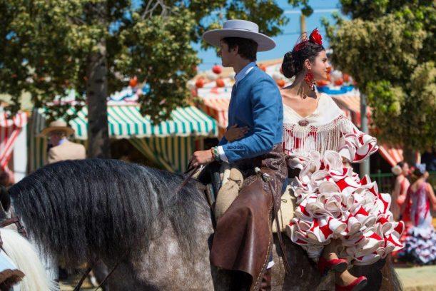 Feria de abril en Sevilla, España